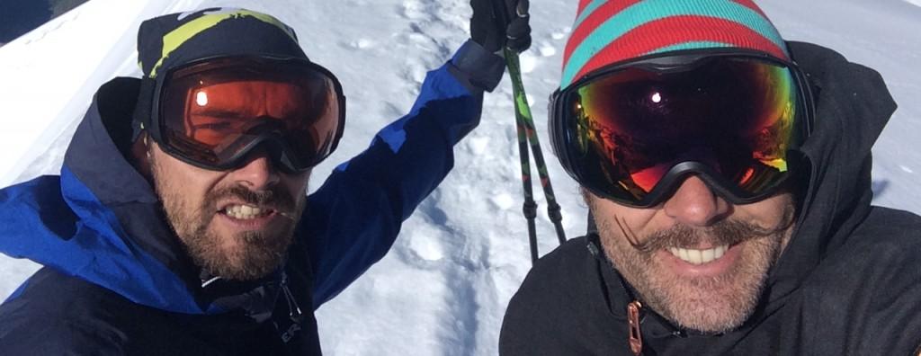 Adrien Coirier + Enak Gavaggio sur le glacier de Tignes