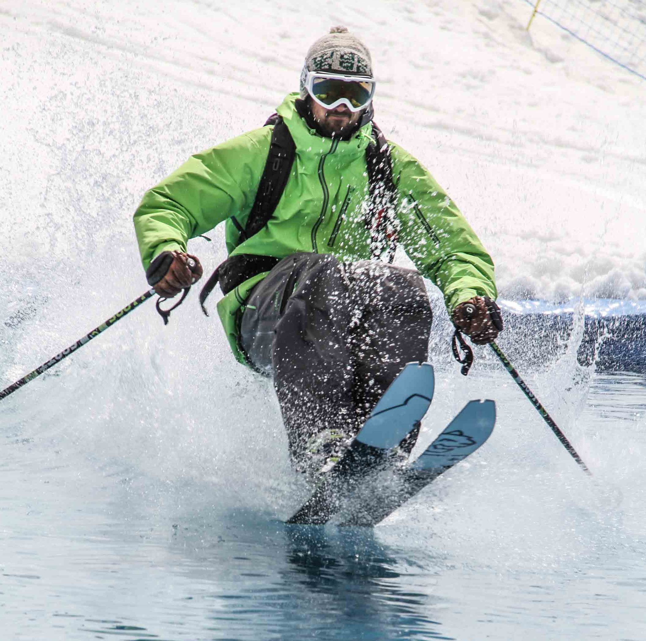 Ski de rand'eau.