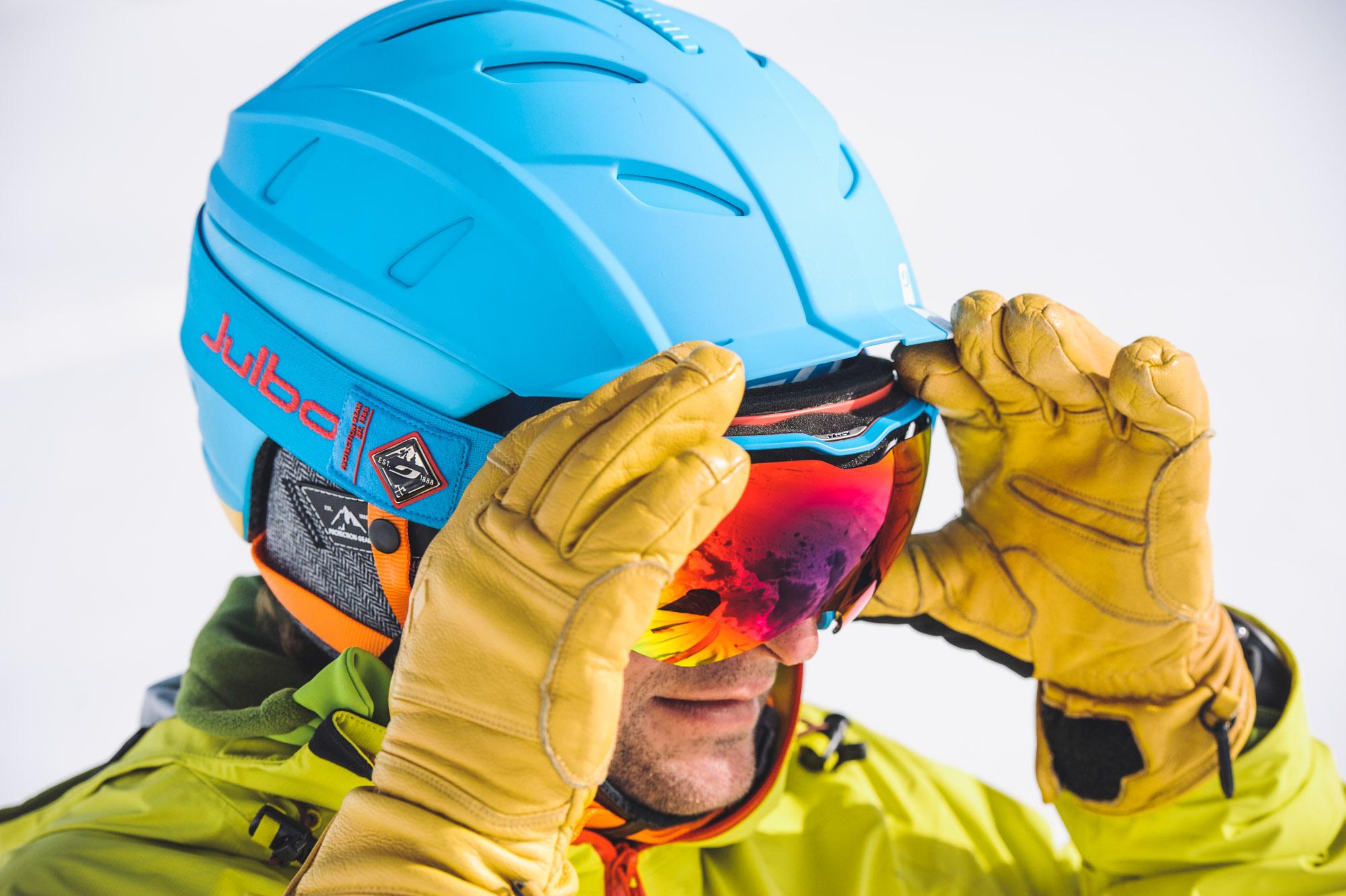 Le masque Aerospace porté par Cédric Pugin ©Marc Daviet/Julbo
