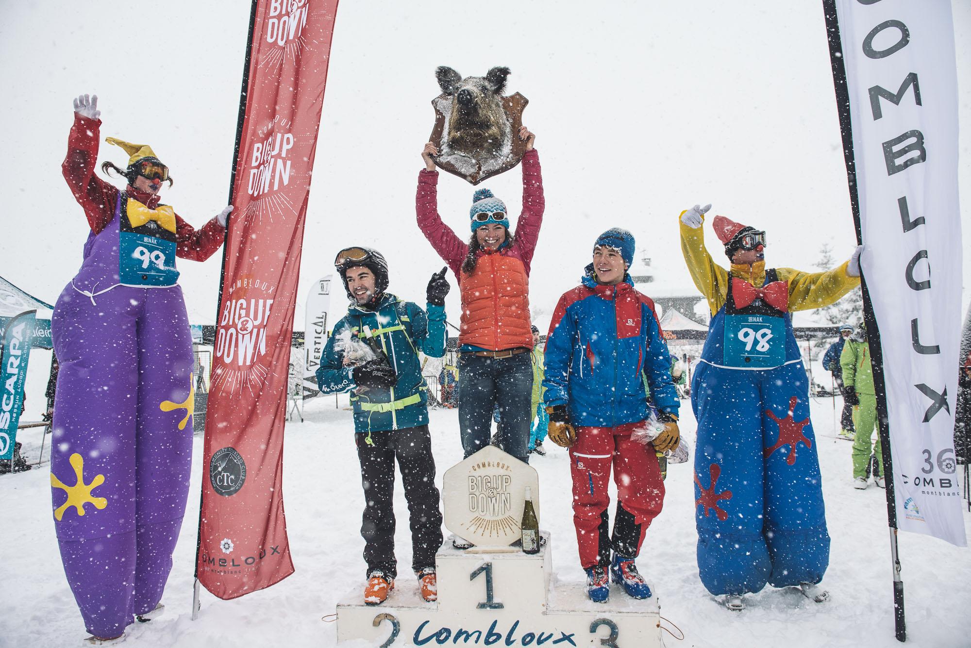 Le podium du premier Big Nak ©Marc Daviet/CTC