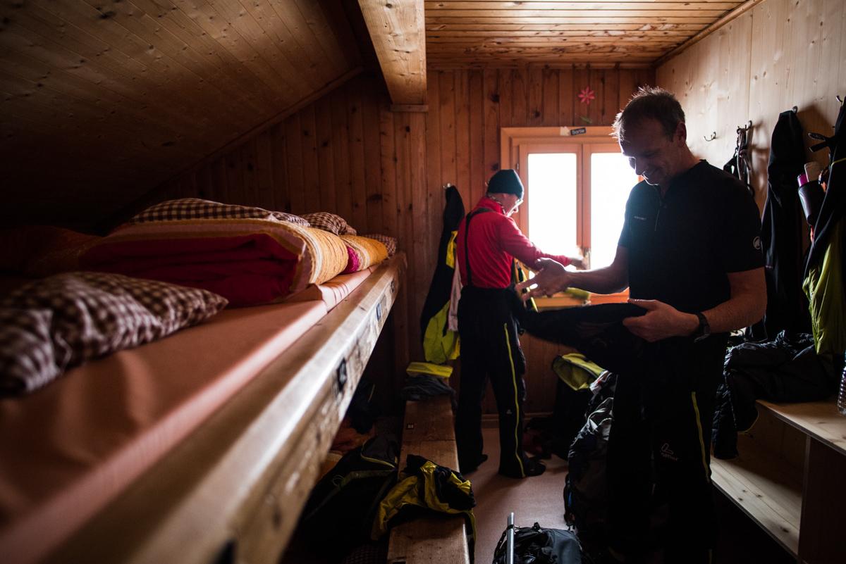 Avec le mauvais temps, difficile de faire sécher quoique ce soit dans les dortoirs... Certains refuges disposent d'un séchoir, mais pas celui-ci !