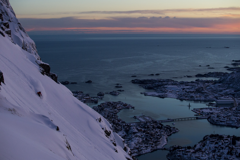 Austin Ross, Lofoten, Norway photo:Adam Clark