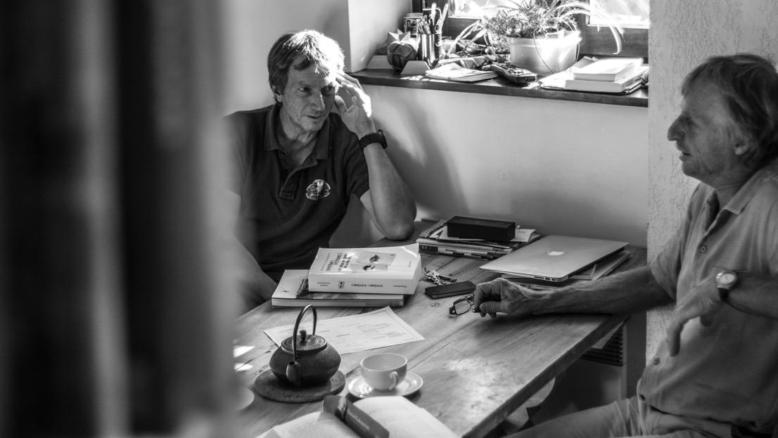 Alain Duclos (à gauche) en discussion avec Erik Decamps (©Guillaume Desmurs)