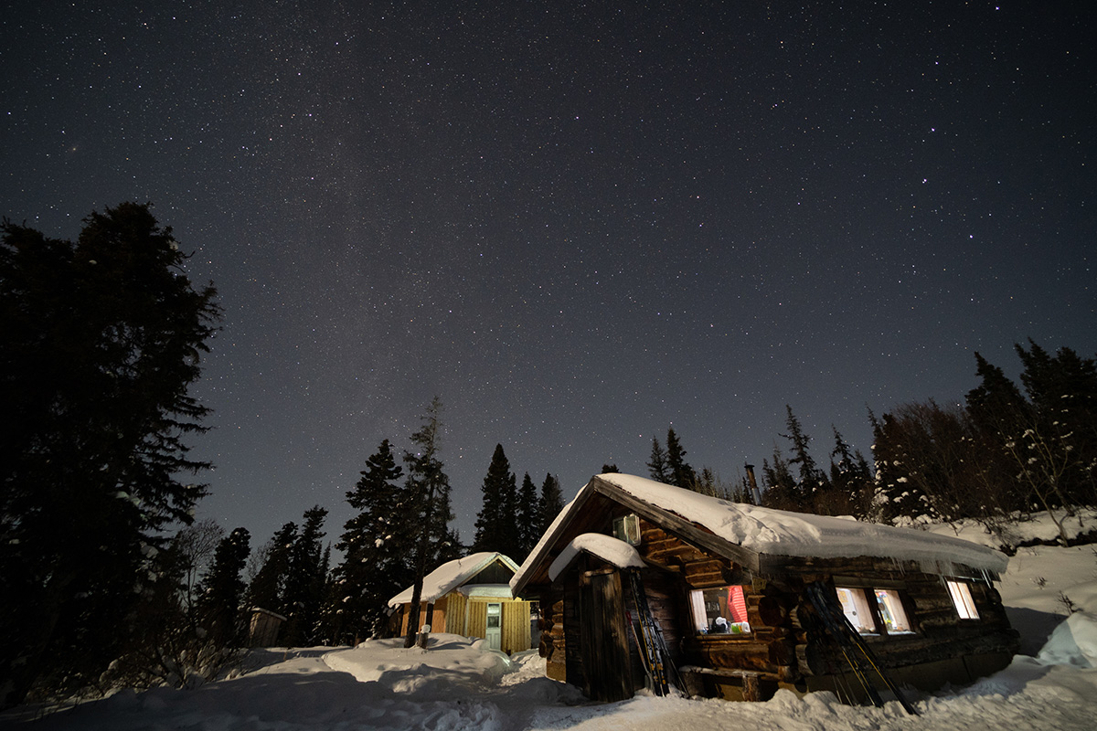 Yukon Canada ski randonnée cabane hébergement