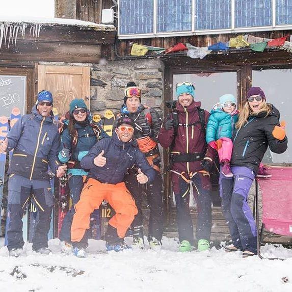 Refuge Drayères équipe ski randonnée PeakUp Hautes-Alpes