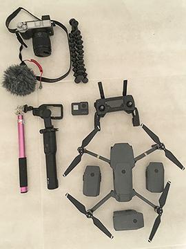 Appareil photo gopro stabilisateur drone micro