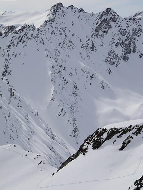 Montagne ski randonnée trace neige Suisse Valais Les Monts Telliers