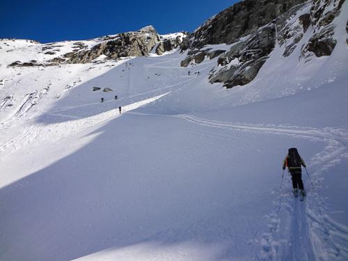Montagne ski randonnée neige Suisse Valais