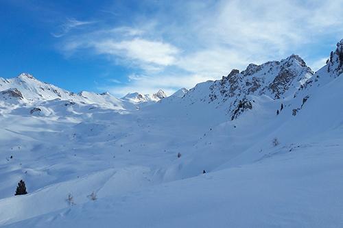 Montagne ski randonnée neige Le Touno Suisse Valais