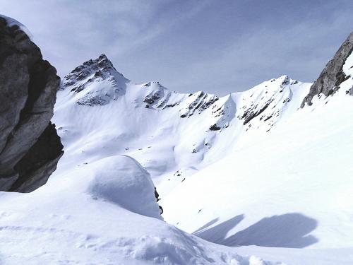 Montagne ski randonnée neige Le Rogneux Suisse Valais