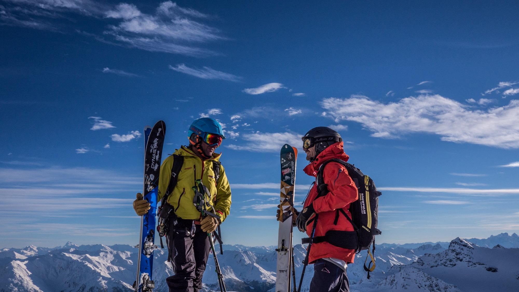 Adrien Coirier et Cedric Pugin sur le glacier de Chavière ©Guillaume Desmurs