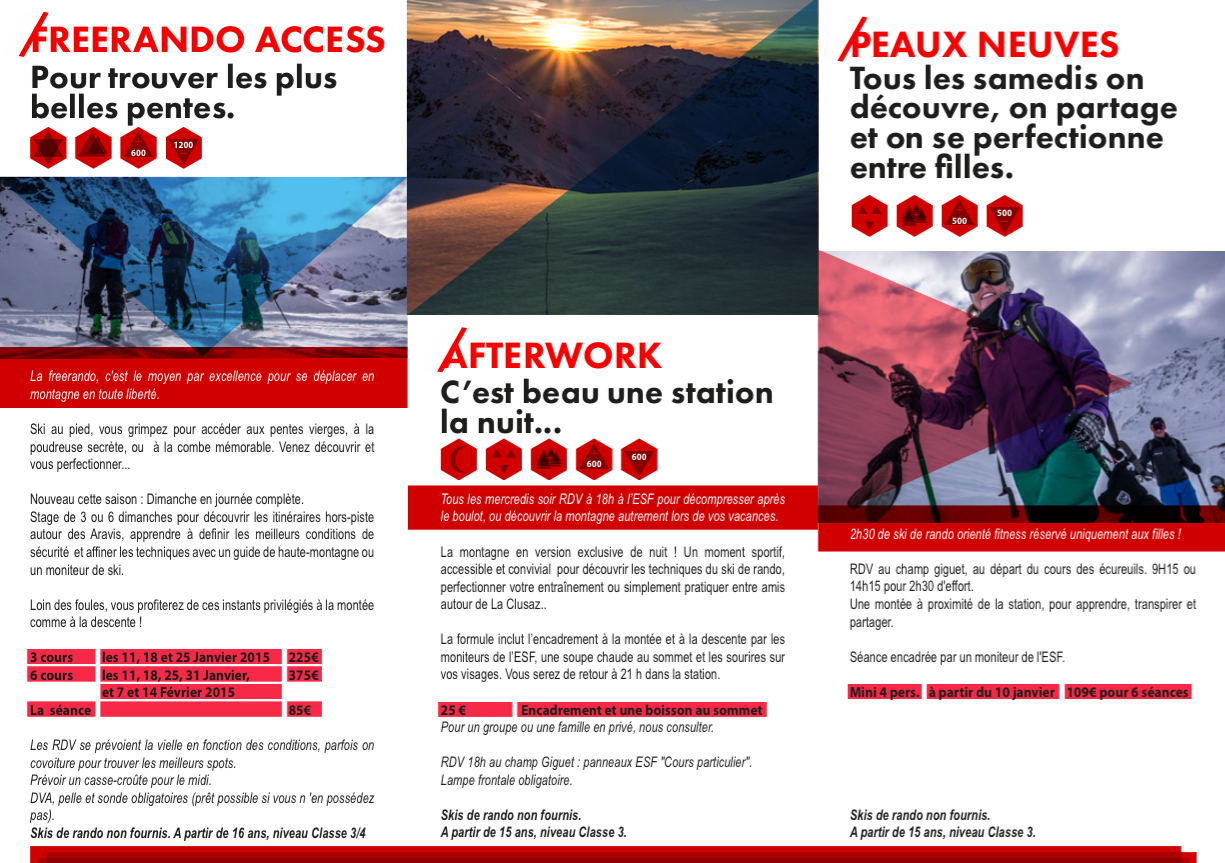 Sorties rando CTC - La Clusaz - ESF - Guides des Aravis