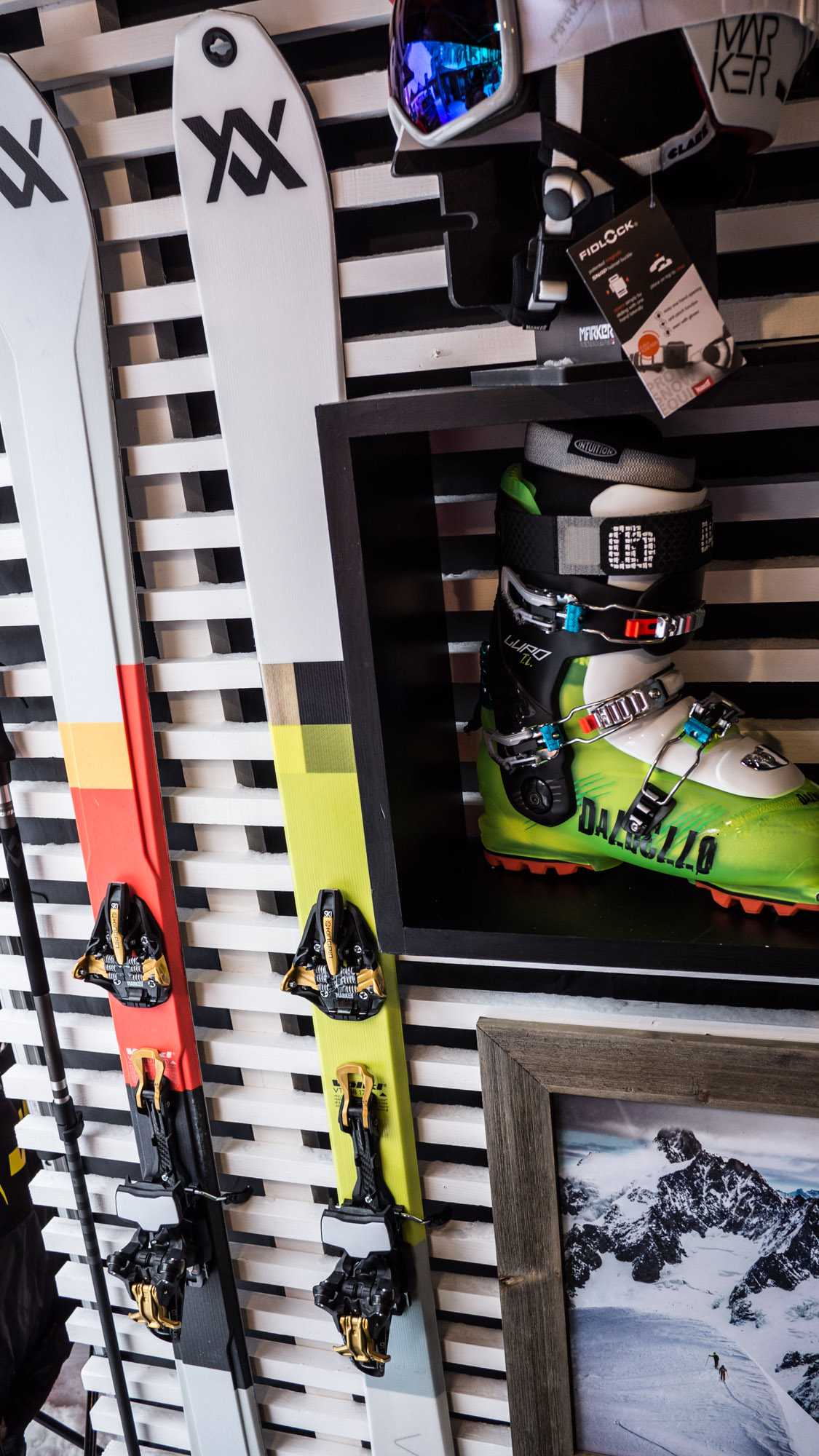 Völkl VTA et VTA light, chaussure Dalbello Lupo