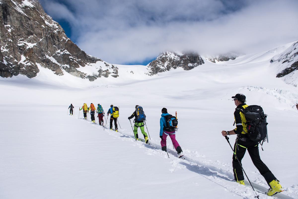 Le col de Valpelline, surnommé le mur des lamentations : dernière difficulté avant Zermatt.