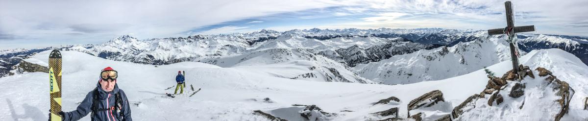 Nouveautés 2017 Scott : au sommet du Grand Mont.