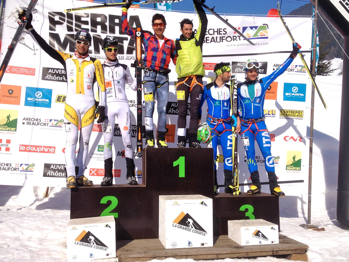 Pierra Menta 2016, day 4, le podium hommes ©Jocelyn Chavy