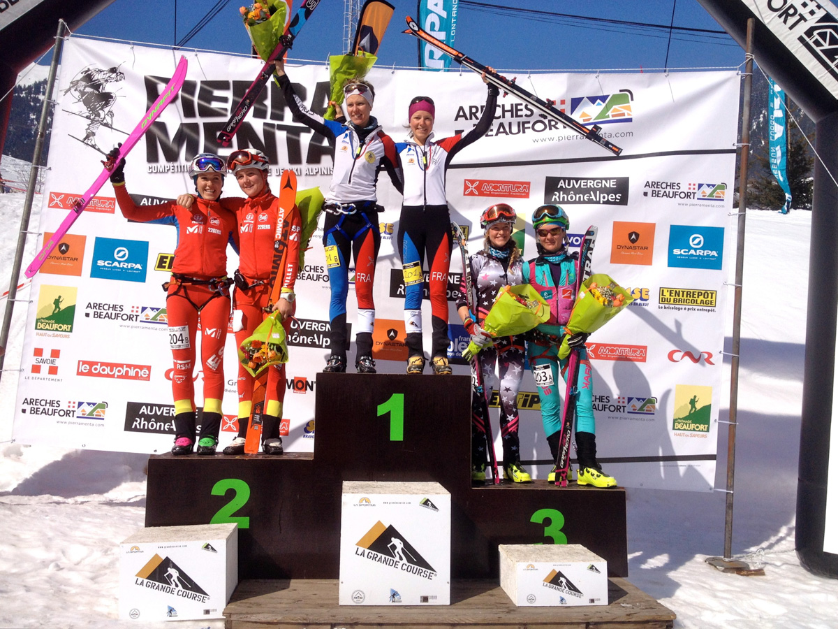 Pierra Menta 2016, day 4, le podium femmes ©Jocelyn Chavy