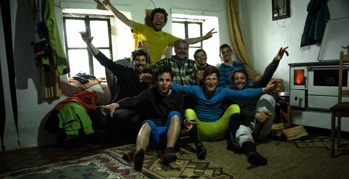 Valbona the all crew & Tahir's family elev 1150m Kukaj hamlet