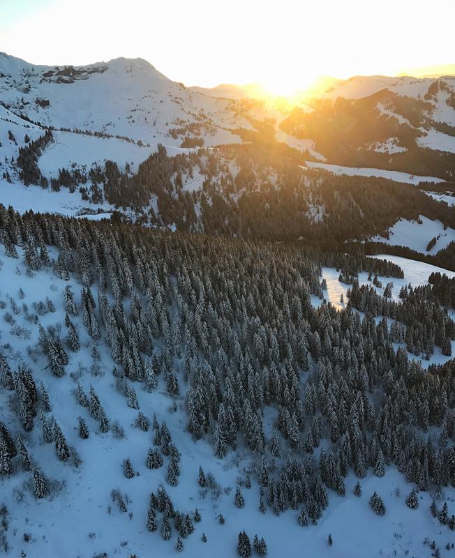 Mathéo Jacquemoud paysage couché de soleil