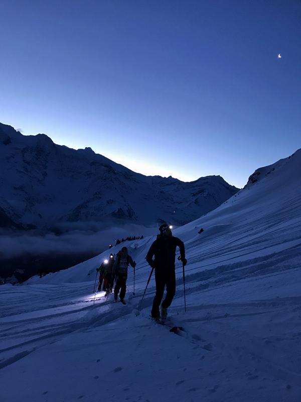 Mathéo Jacquemoud ski de rando nuit