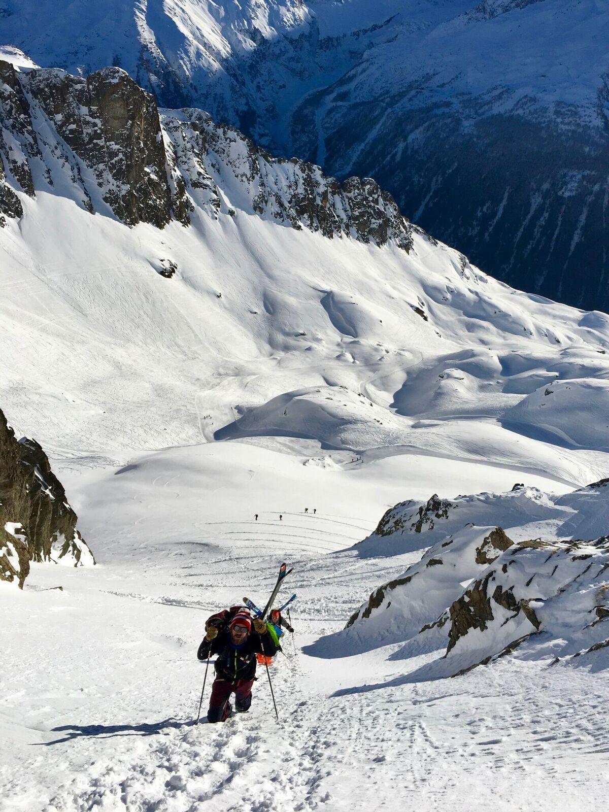 Ski de randonnée à Chamonix, ambassadeur CTC ZAG Millet