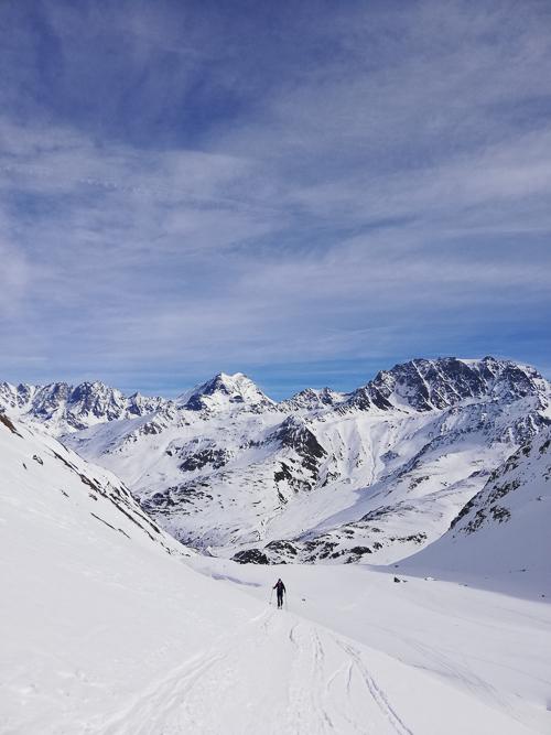 Montagne ski randonnée neige Suisse Valais Les Monts Telliers