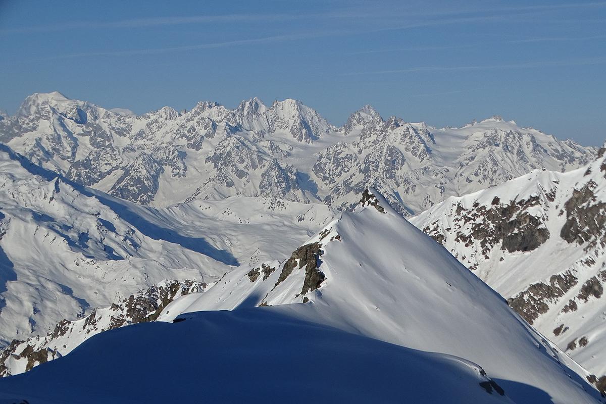Montagne ski randonnée neige Rosablanche Suisse Valais