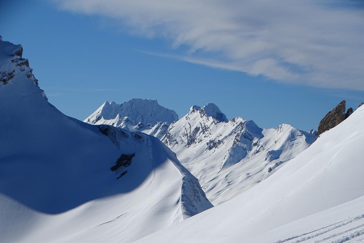 Montagne ski randonnée neige La Fava Suisse Valais