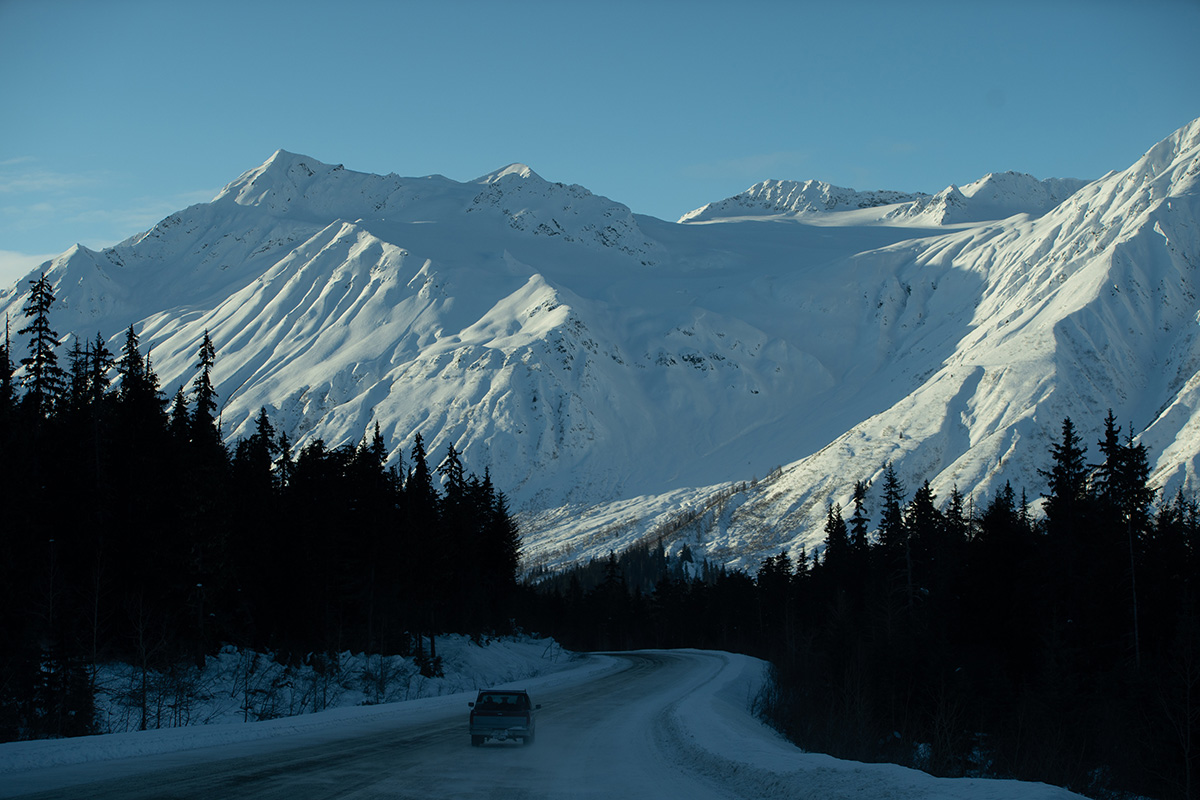 Yukon Canada ski randonnée route montagnes